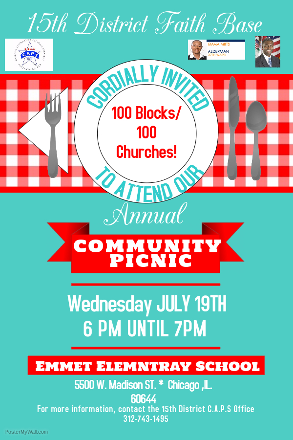 15th District Faith Based Annual Community Picnic
