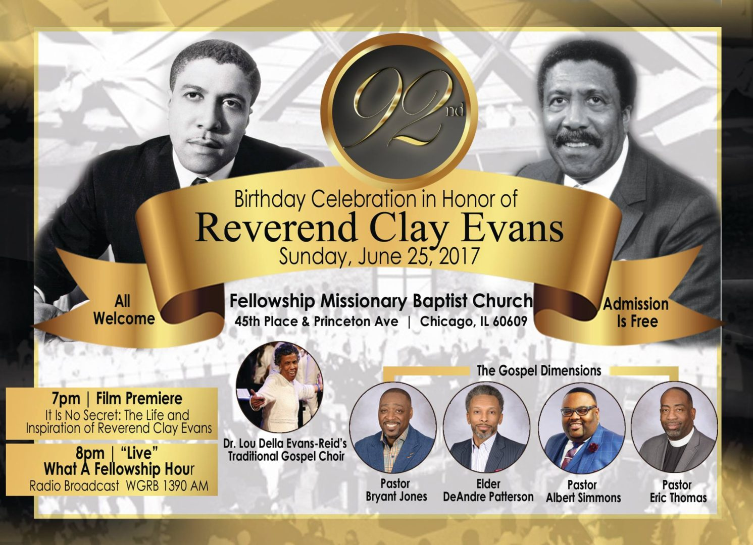 Rev. Dr. Clay Evans 92nd Birthday Celebration