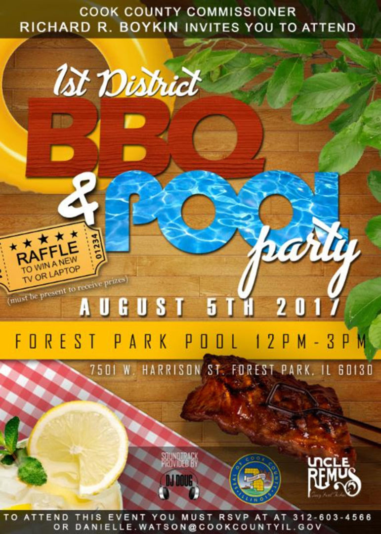 1st District BBQ and Pool Party 2017