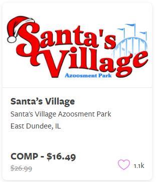 Santa's Village Comp Tickets