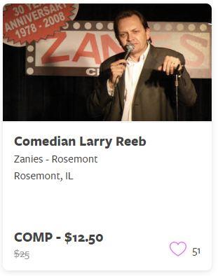 Comedian Larry Reeb Comp Train
