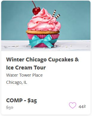 Winter Chicago Cupcakes and Ice Cream Tour Comp Train