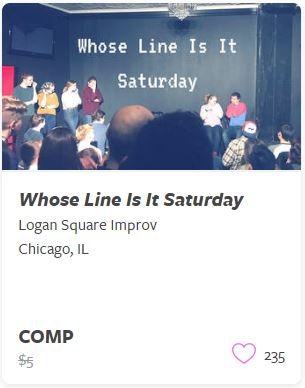 Whose Line is it Saturday Comp Train