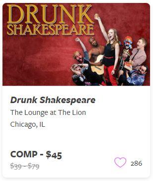 Drunk Shakespeare Comp Tickets