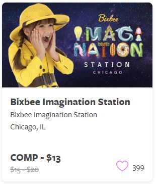 Bixbee Imagination Station Comp Tickets