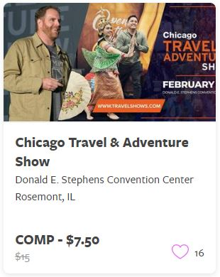 Chicago Travel and Adventure Show Comp Train