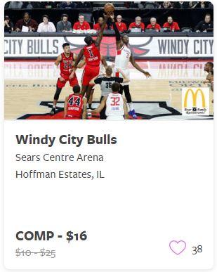 Windy City Bulls Comp Tickets