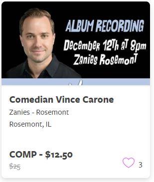 Comedian Vince Carone Comp Train