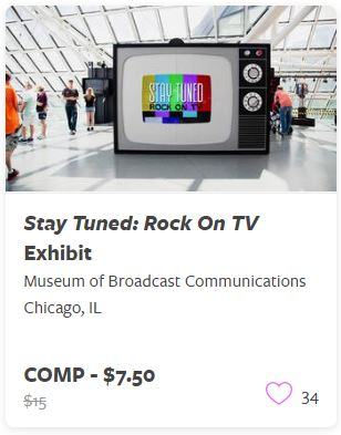 Stay Tuned Rock on TV Exhibit Comp Train