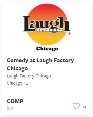 Comedy at Laugh Factory Chicago Comp Train